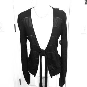 Armani Collezioni Blqck Silk Sweater